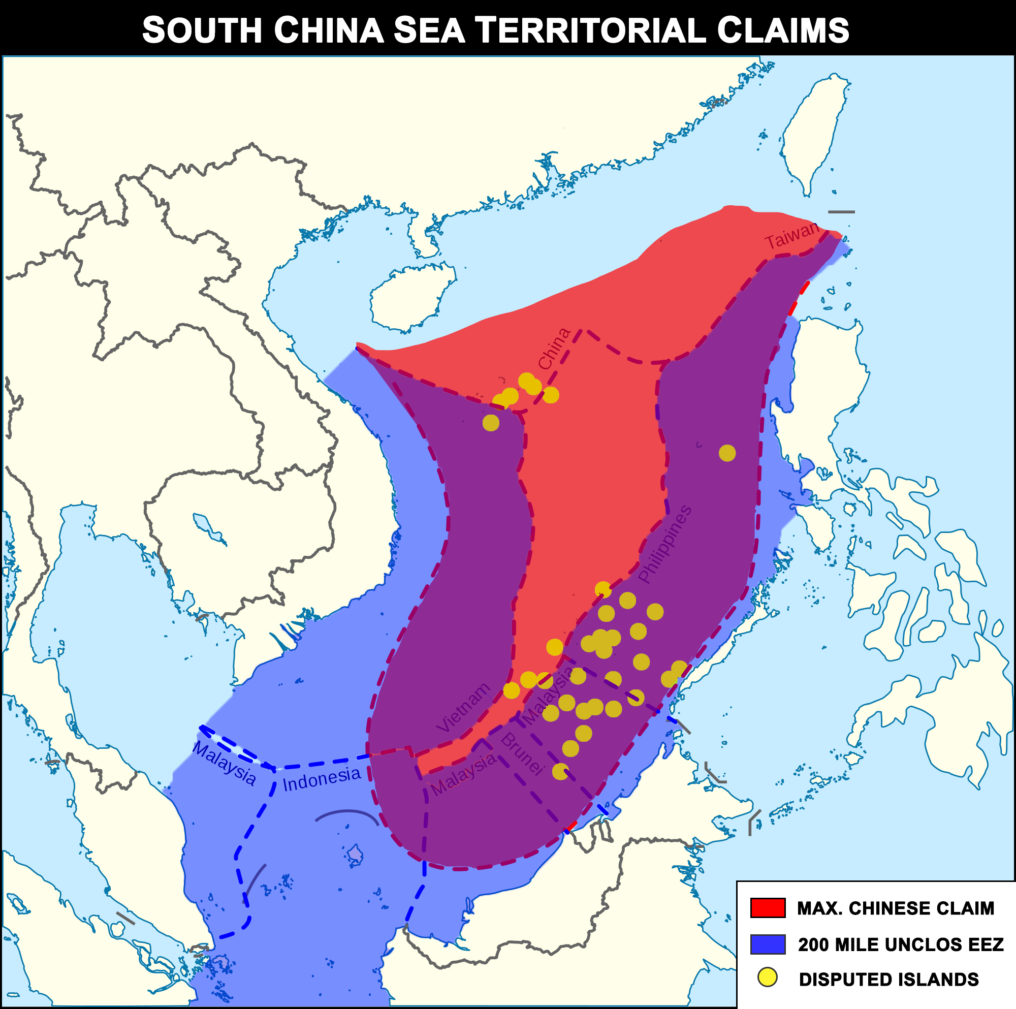 CHINESE TERRITORIAL CLAIMS SOUTH CHINA SEA