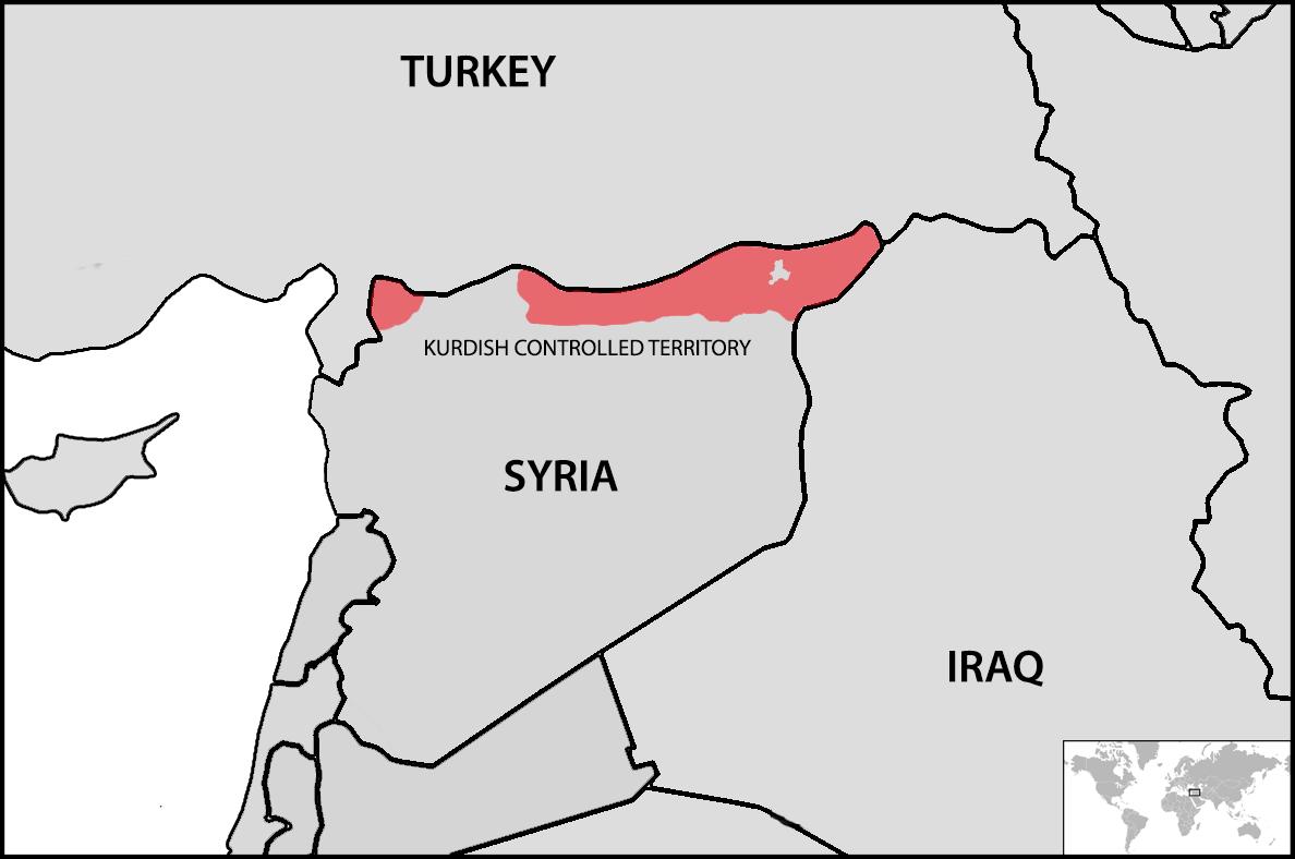 SYRIA KURD NORTH MAP