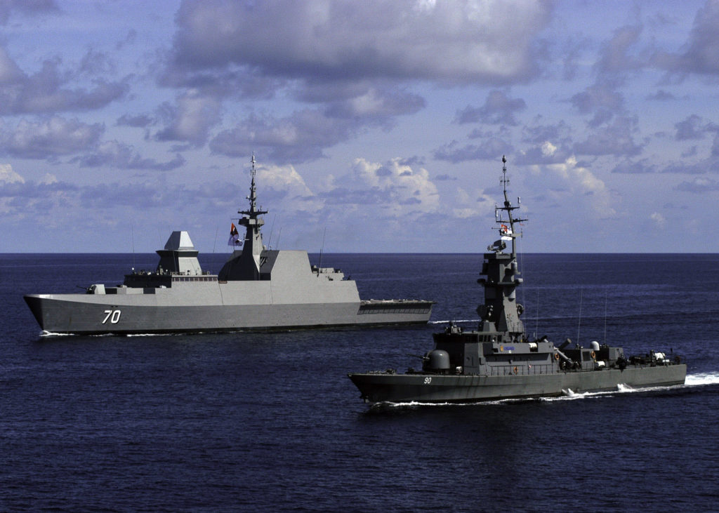 RSS frigate and corvette during Exercise CARAT (2010). Photo: U.S. Navy