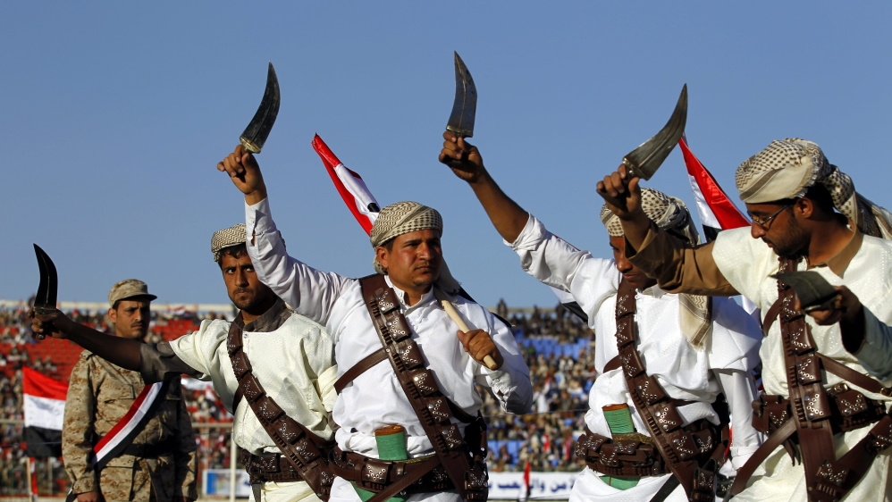 Houthi loyalists show support in Yemen