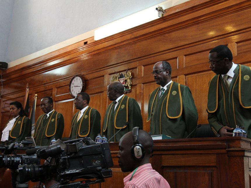 Justices in Kenya's Supreme Court will decide whether to annul last month's eleciton today