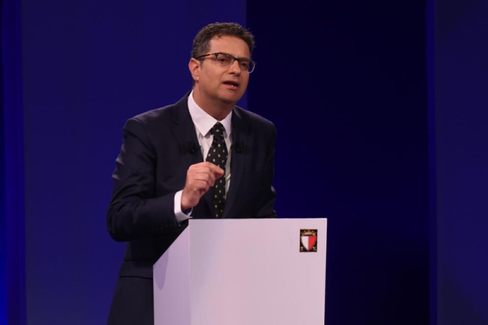 Adrian Delia is vying to be the leader of Malta's Nationalist Party in today's ballot