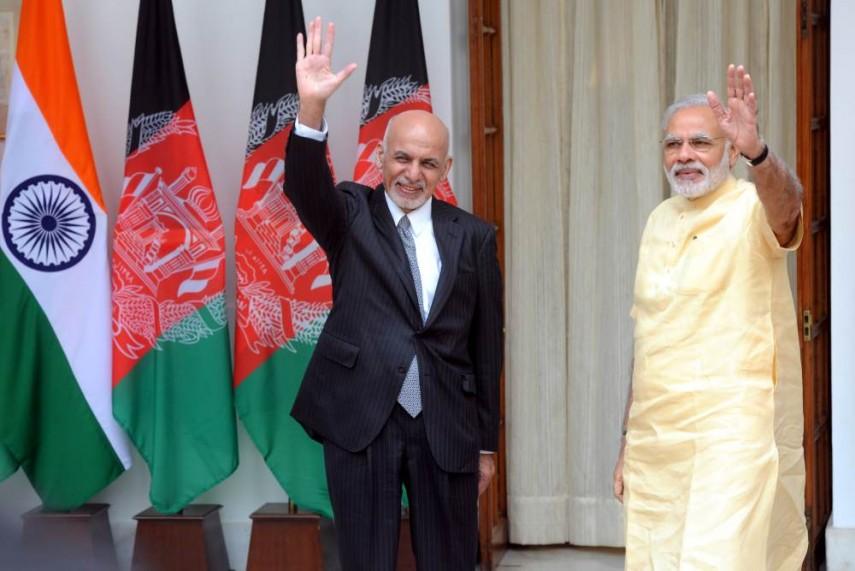 Afghan President Ashraf Ghani meets Indian PM Narendra Modi