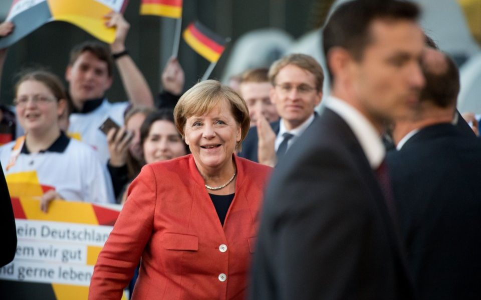 Angela Merkel on the campaign trail ahead of Germany's election