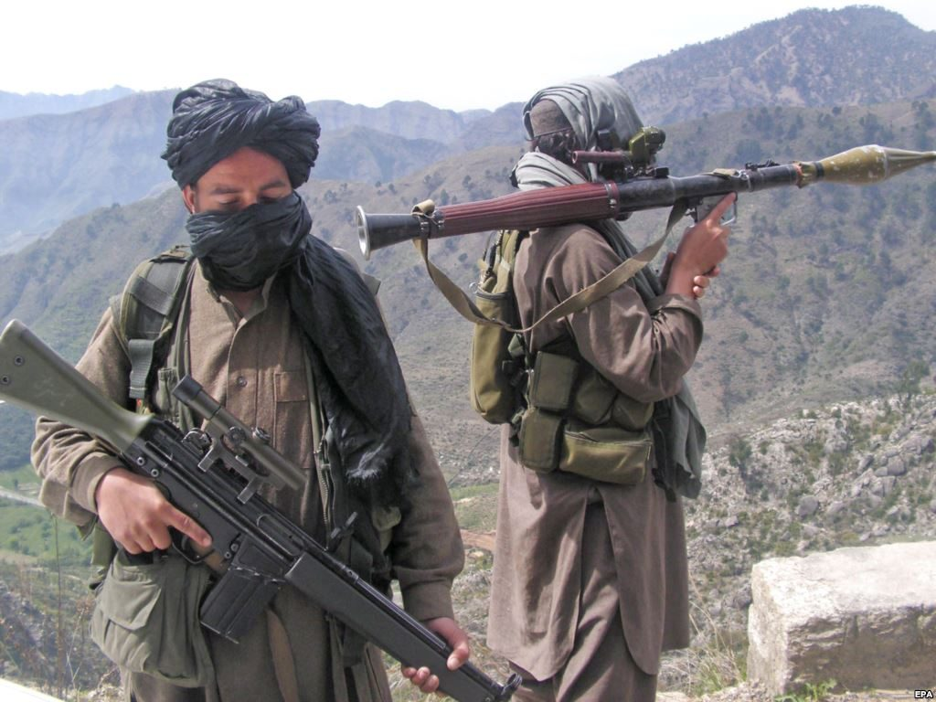 Pakistani Taliban near the Swat Valley