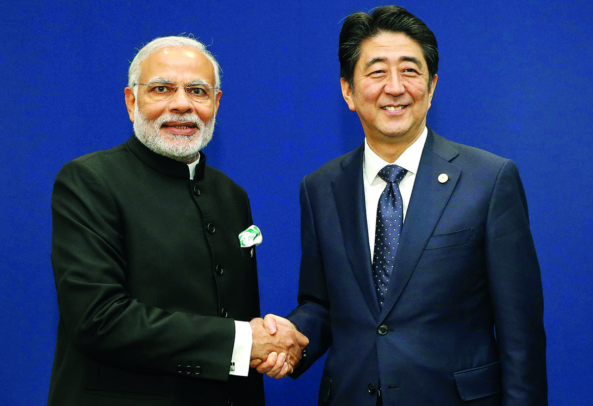 Indian PM Narendra Modi meets Japanese leader Shinzo Abe