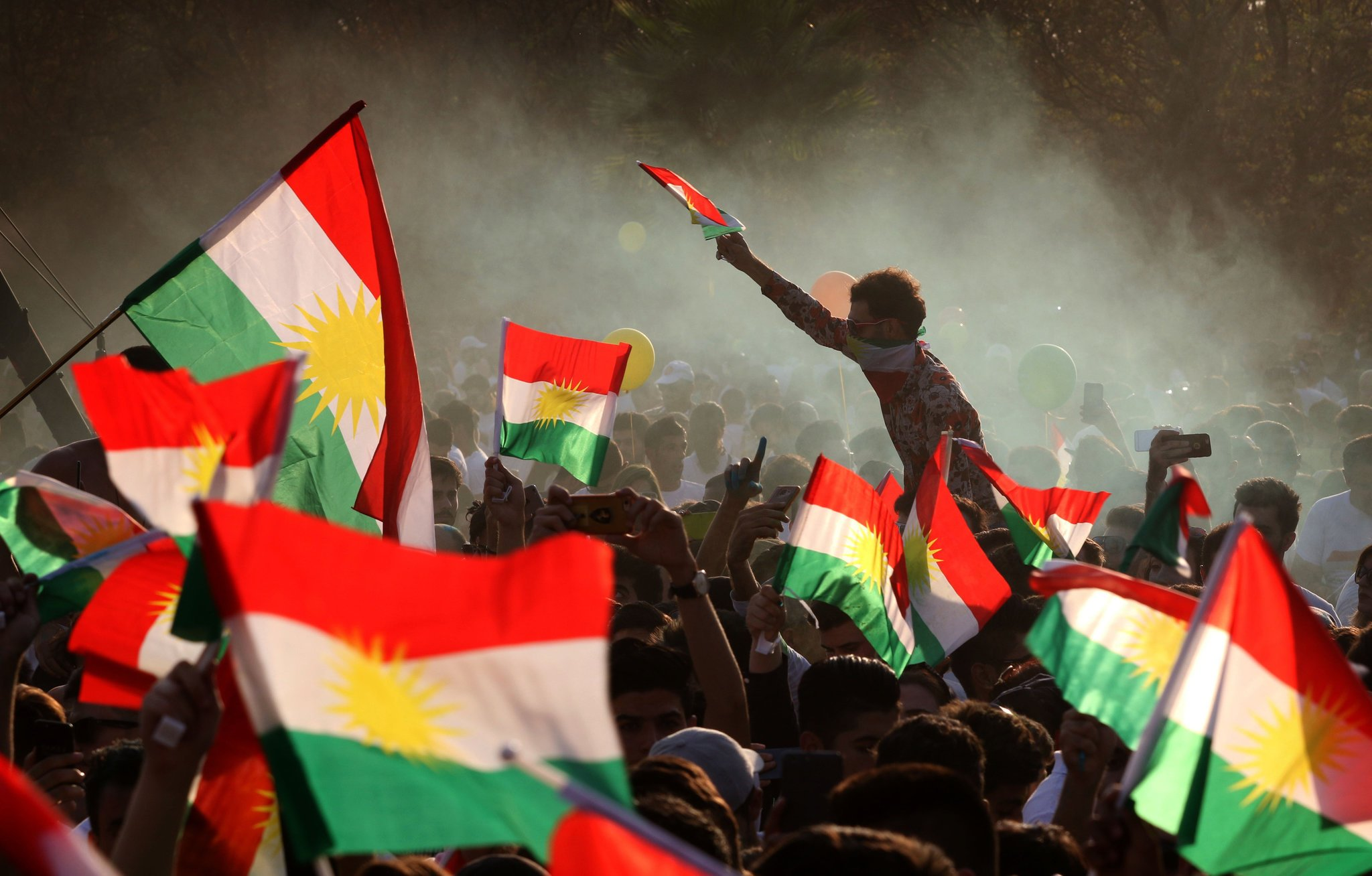 Iraqi Kurds rally ahead of an independence referendum