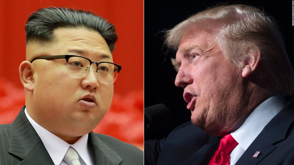 North Korean leader Kim Jong-un and President Donald Trump