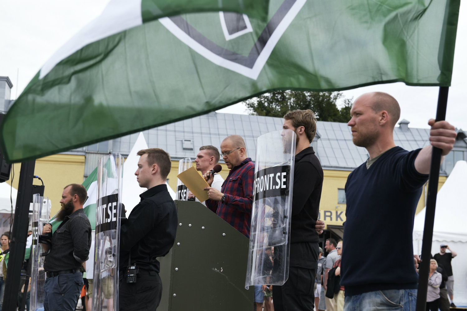 Sweden's Nordic Resistance Movement demonstrates
