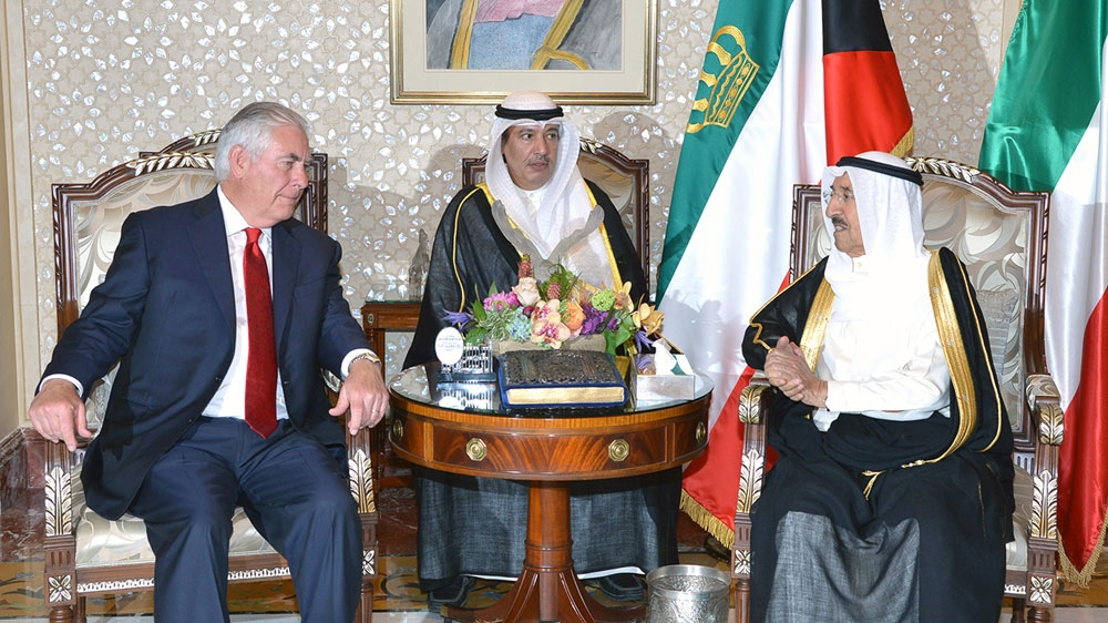 US top diplomat Tillerson in Kuwait