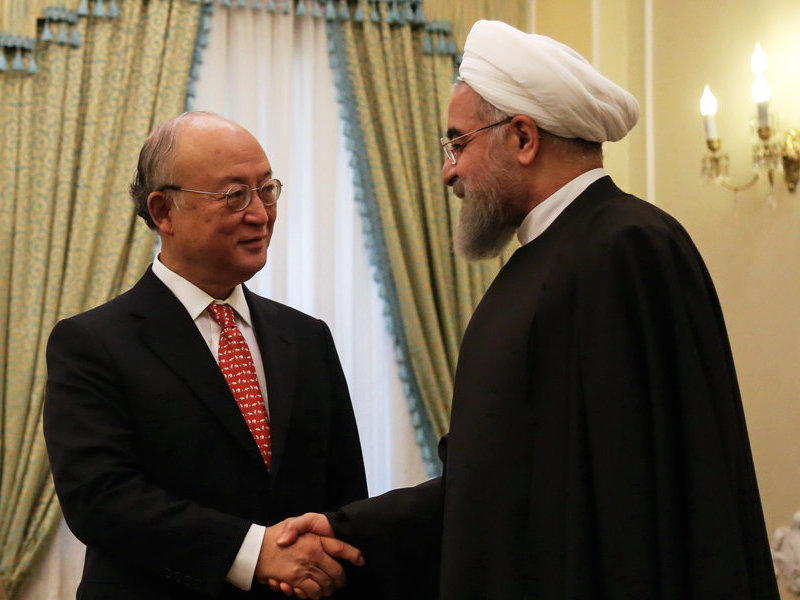 Rouhani and Amano IAEA