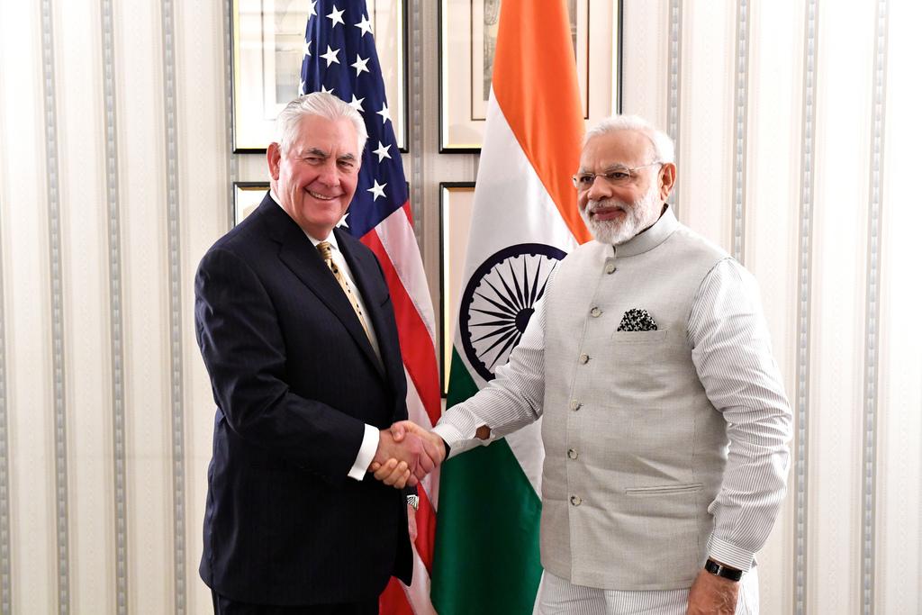 Tillerson to meet Indiaäs Narendra Modi
