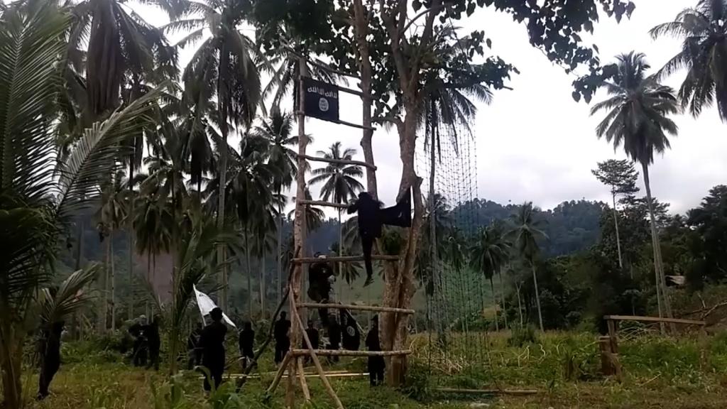 Jihadists are shown undergoing basic weapons training
