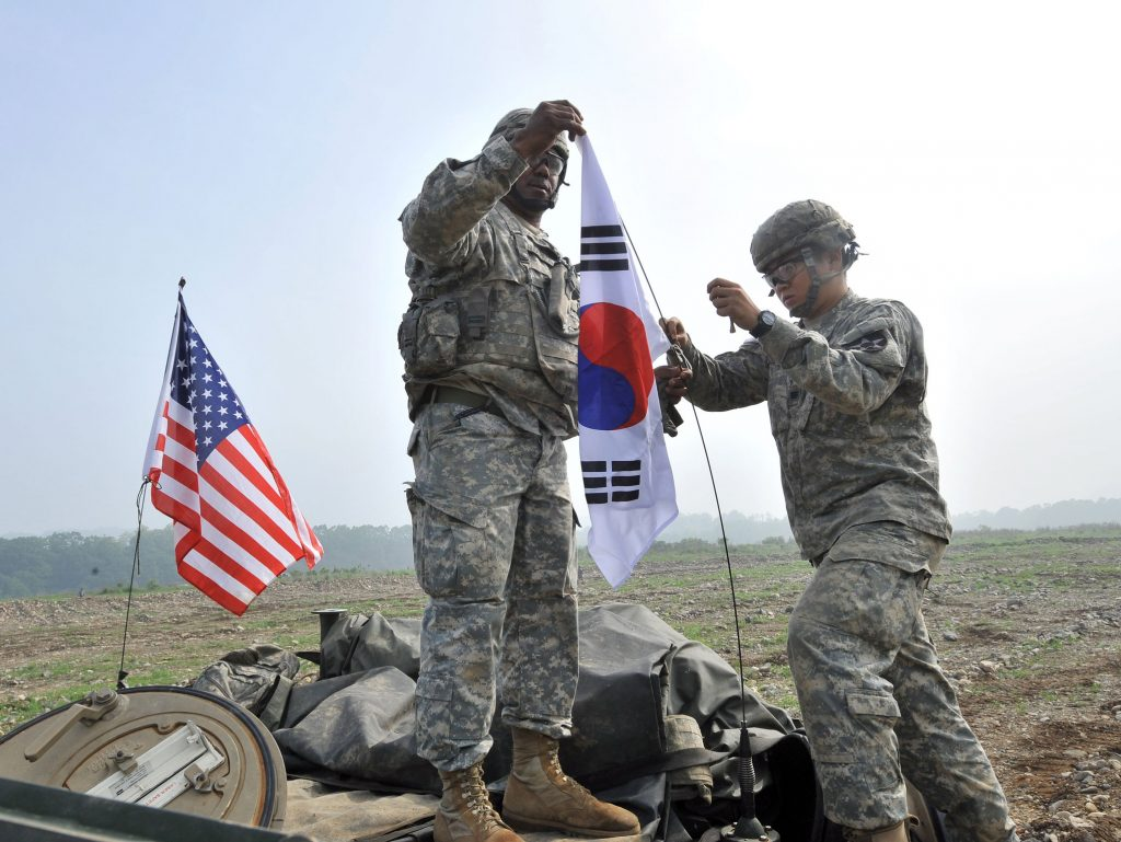 The US Army has more than 28,000 troops stationed in South Korea. (OPCON)
