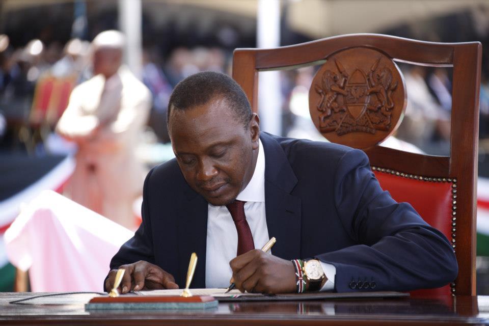 Uhuru Kenyatta swearing in