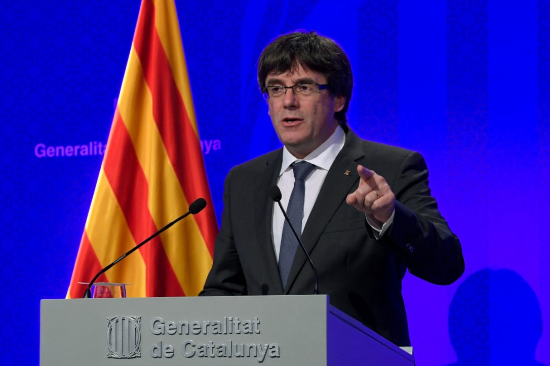 Catalan President Carles Puigdemont expected to address parliament