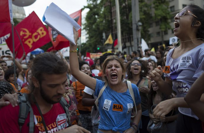 Risk of violence rises in Brazil as unpopular pension vote likely to today
