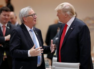 European Commission President Juncker arrives in Washington for trade talks with Trump