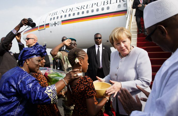 German chancellor begins West Africa tour focused on migration and security