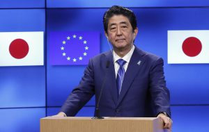 Japanese PM begins diplomatic tour of EU and North America to discuss trade